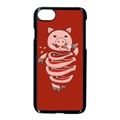 Red Stupid Self Eating Gluttonous Pig Apple Iphone 7 Seamless Case (black) by CreaturesStore