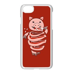 Red Stupid Self Eating Gluttonous Pig Apple Iphone 7 Seamless Case (white) by CreaturesStore