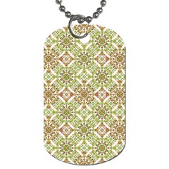 Colorful Stylized Floral Boho Dog Tag (two Sides) by dflcprints