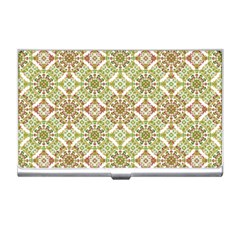 Colorful Stylized Floral Boho Business Card Holders by dflcprints