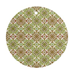 Colorful Stylized Floral Boho Round Ornament (two Sides) by dflcprints