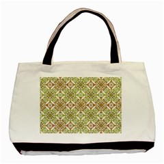 Colorful Stylized Floral Boho Basic Tote Bag (two Sides) by dflcprints