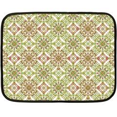 Colorful Stylized Floral Boho Fleece Blanket (mini) by dflcprints