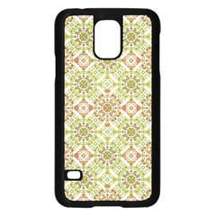 Colorful Stylized Floral Boho Samsung Galaxy S5 Case (black) by dflcprints