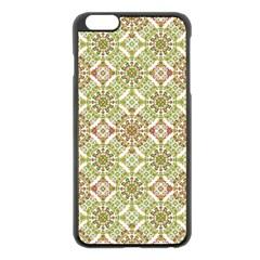 Colorful Stylized Floral Boho Apple Iphone 6 Plus/6s Plus Black Enamel Case by dflcprints