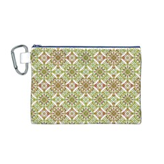 Colorful Stylized Floral Boho Canvas Cosmetic Bag (m) by dflcprints