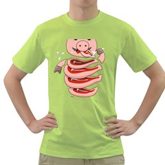 Stupid Gluttonous Self Eating Pig Green T Shirt by CreaturesStore