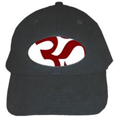 Hindu Om Symbol (dark Red) Black Cap by abbeyz71