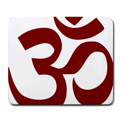 Hindu Om Symbol (dark Red) Large Mousepads by abbeyz71