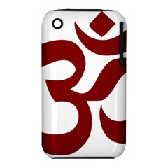 Hindu Om Symbol (dark Red) Iphone 3s/3gs by abbeyz71