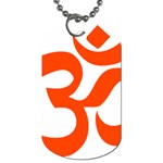 Hindu Om Symbol (Orange) Dog Tag (One Side) Front