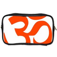 Hindu Om Symbol (orange) Toiletries Bags 2 Side by abbeyz71