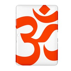 Hindu Om Symbol (orange) Samsung Galaxy Tab 2 (10 1 ) P5100 Hardshell Case  by abbeyz71