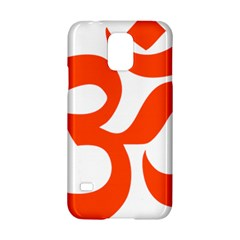 Hindu Om Symbol (orange) Samsung Galaxy S5 Hardshell Case  by abbeyz71