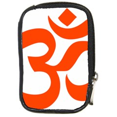 Hindu Om Symbol (orange) Compact Camera Cases by abbeyz71