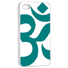 Hindu Om Symbol (teal)  Apple Iphone 4/4s Seamless Case (white) by abbeyz71