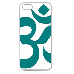 Hindu Om Symbol (teal)  Apple Seamless Iphone 5 Case (clear) by abbeyz71