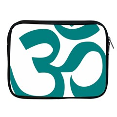 Hindu Om Symbol (teal)  Apple Ipad 2/3/4 Zipper Cases by abbeyz71