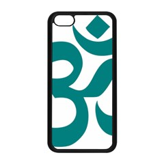 Hindu Om Symbol (teal)  Apple Iphone 5c Seamless Case (black) by abbeyz71