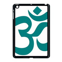 Hindu Om Symbol (teal) Apple Ipad Mini Case (black) by abbeyz71