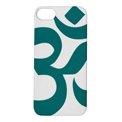 Hindu Om Symbol (teal) Apple Iphone 5s/ Se Hardshell Case by abbeyz71