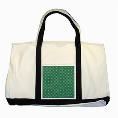 Friendly Retro Pattern A Two Tone Tote Bag by MoreColorsinLife