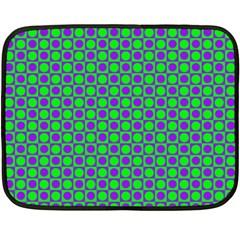 Friendly Retro Pattern A Double Sided Fleece Blanket (mini)  by MoreColorsinLife