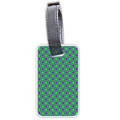 Friendly Retro Pattern A Luggage Tags (two Sides) by MoreColorsinLife