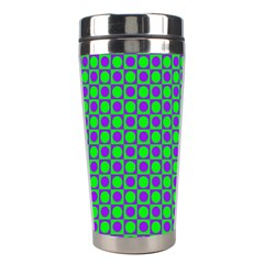 Friendly Retro Pattern A Stainless Steel Travel Tumblers by MoreColorsinLife