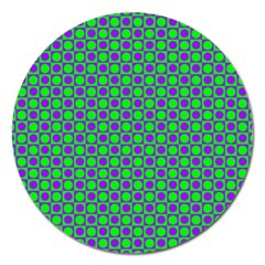 Friendly Retro Pattern A Magnet 5  (round) by MoreColorsinLife