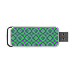 Friendly Retro Pattern A Portable Usb Flash (one Side) by MoreColorsinLife