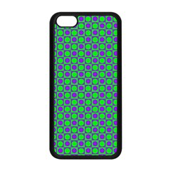 Friendly Retro Pattern A Apple Iphone 5c Seamless Case (black) by MoreColorsinLife
