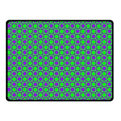Friendly Retro Pattern A Double Sided Fleece Blanket (small)  by MoreColorsinLife
