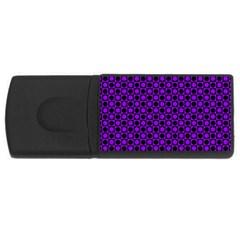 Friendly Retro Pattern B Usb Flash Drive Rectangular (4 Gb) by MoreColorsinLife