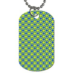 Friendly Retro Pattern C Dog Tag (two Sides) by MoreColorsinLife