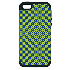 Friendly Retro Pattern C Apple Iphone 5 Hardshell Case (pc+silicone) by MoreColorsinLife