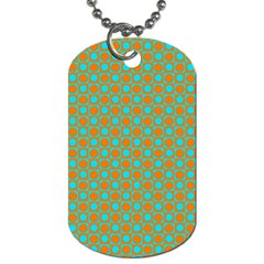 Friendly Retro Pattern D Dog Tag (two Sides) by MoreColorsinLife
