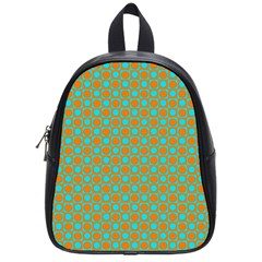 Friendly Retro Pattern D School Bags (small)  by MoreColorsinLife