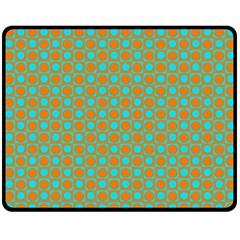 Friendly Retro Pattern D Fleece Blanket (medium)  by MoreColorsinLife
