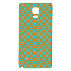 Friendly Retro Pattern D Galaxy Note 4 Back Case by MoreColorsinLife