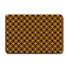 Friendly Retro Pattern F Small Doormat  by MoreColorsinLife