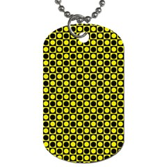 Friendly Retro Pattern I Dog Tag (two Sides) by MoreColorsinLife