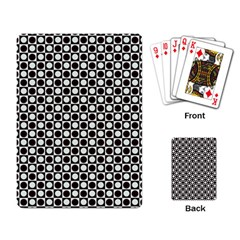 Friendly Retro Pattern H Playing Card by MoreColorsinLife