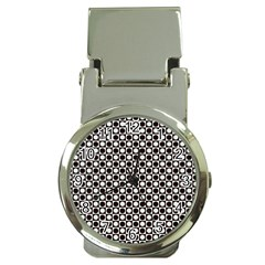 Friendly Retro Pattern H Money Clip Watches by MoreColorsinLife