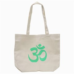 Hindu Om Symbol (cyan Blue) Tote Bag (cream) by abbeyz71