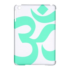 Hindu Om Symbol (cyan Blue) Apple Ipad Mini Hardshell Case (compatible With Smart Cover) by abbeyz71