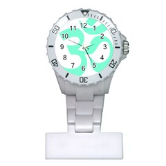 Hindu Om Symbol (cyan Blue) Plastic Nurses Watch by abbeyz71