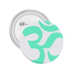 Hindu Om Symbol (cyan Blue) 2 25  Buttons by abbeyz71