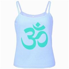 Hindu Om Symbol (cyan Blue) Baby Blue Spaghetti Tank by abbeyz71