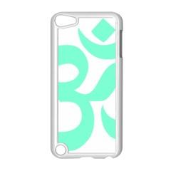 Hindu Om Symbol (cyan Blue) Apple Ipod Touch 5 Case (white) by abbeyz71